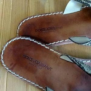Dolce & Gabbana Shoes - Dolce & Gabbana Python Skin Sandals EU 43 / US 10